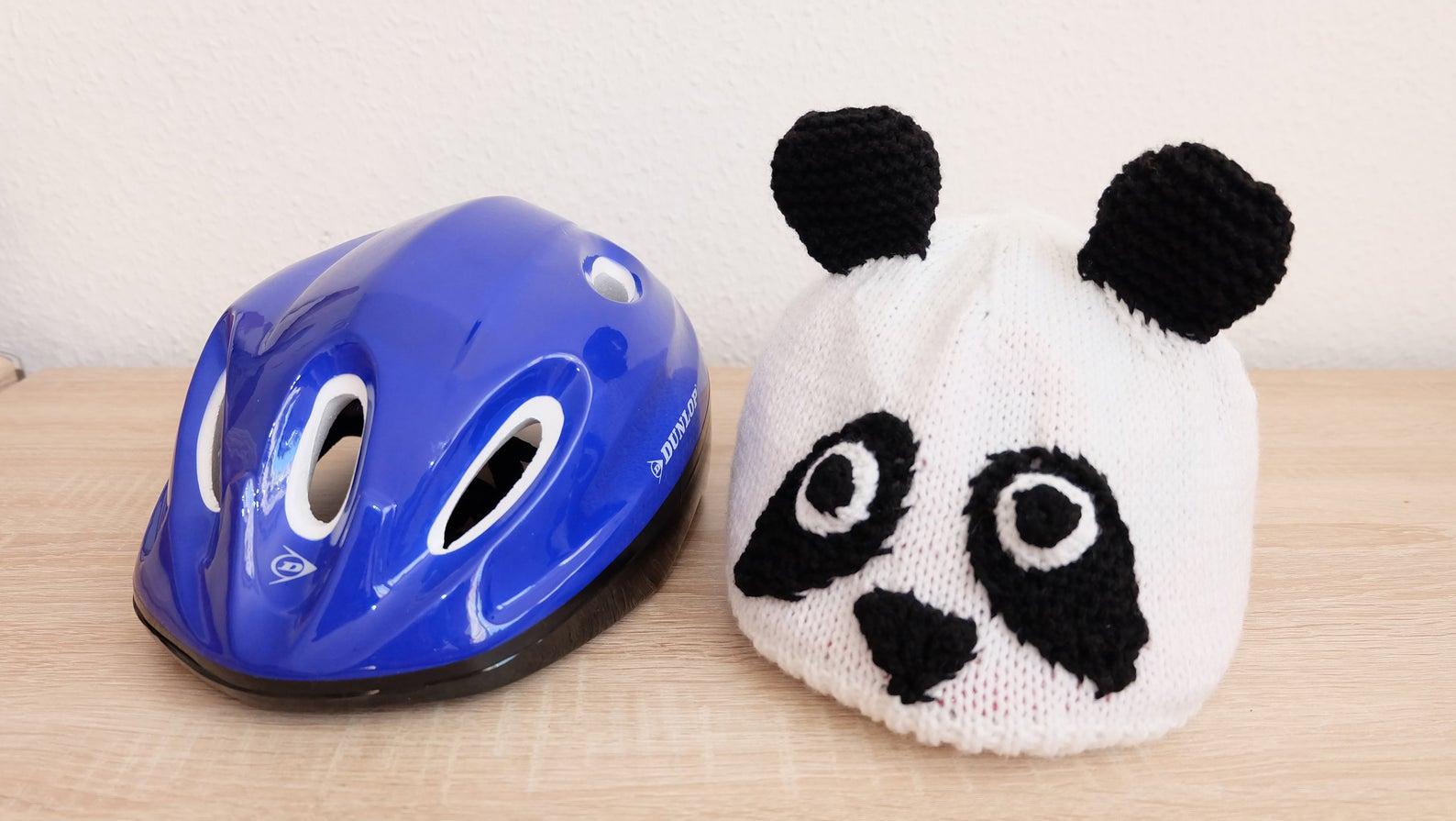 Kinder-Fahrradhelmüberzug Panda